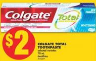 Colgate Total Toothpaste - 70 mL