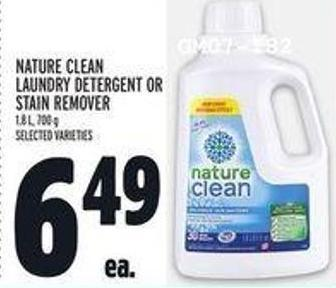 Nature Clean Laundry Detergent Or Stain Remover