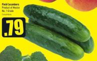 Field Cucumbers Product of Mexico No. 1 Grade