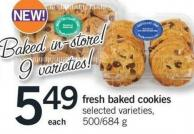 Fresh Baked Cookies - 500/684 g