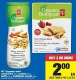 PC Organics Mini Cereal Bars - 160 g - Cookies - 170 g - Puffs - 42 g or Multigrain Snacks - 125 g