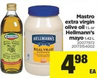 Mastro Extra Virgin Olive Oil - 1 L Or Hellmann's Mayo - 1.42 L