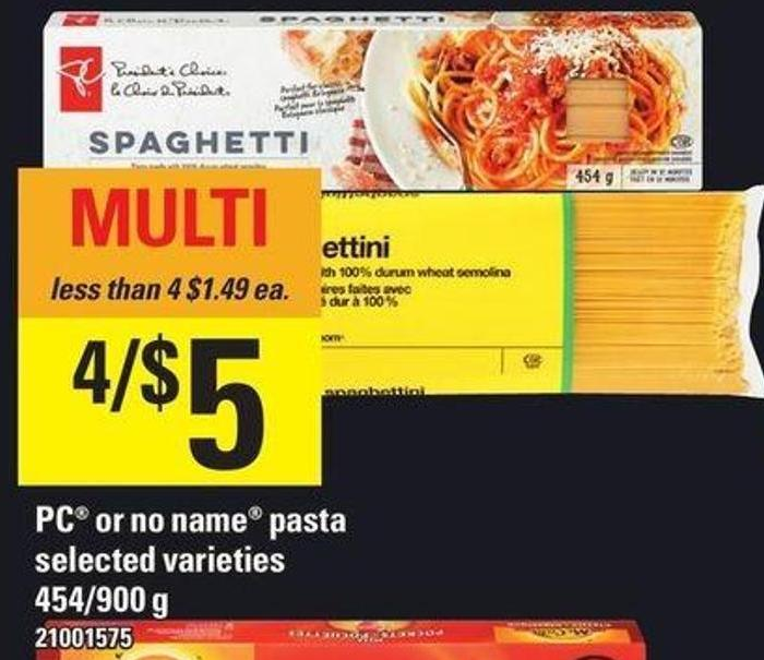 PC Or No Name Pasta - 454/900 g