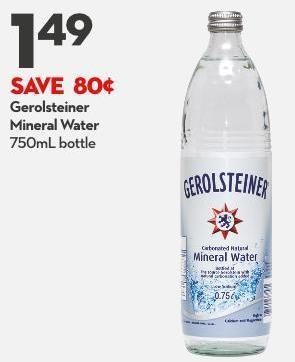 Gerolsteiner Mineral Water 750ml Bottle