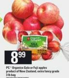 PC Organics Gala Or Fuji Apples - 3 Lb Bag