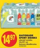 Gatorade Sport Drinks - 24x591 mL Boissons Désaltérantes