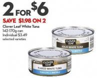 Clover Leaf White Tuna 142-170g Can
