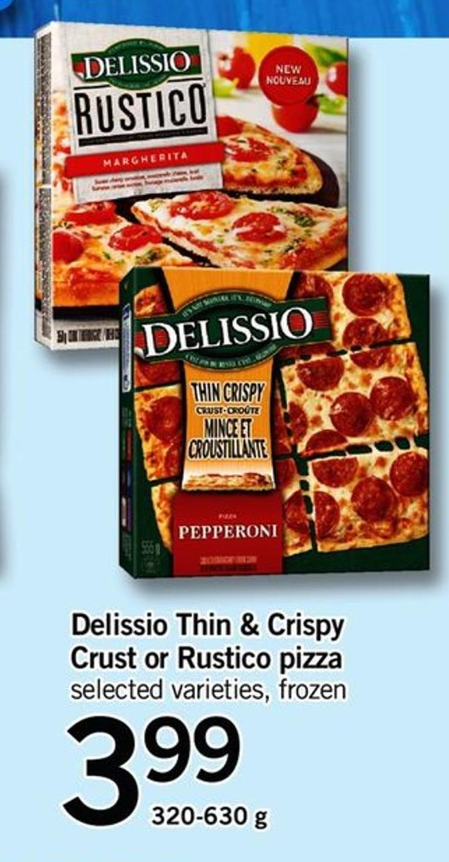 Delissio Thin Crispy Crust Or Rustico Pizza - 320-630 G