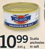 Scalia Anchovies In Salt - 645 G