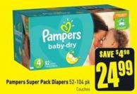 Pampers Super Pack Diapers 52-104 Pk