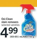 Oxi-clean Stain Removers