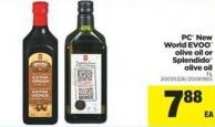 PC New World Evoo Olive Oil Or Splendido Olive Oil - 1 L