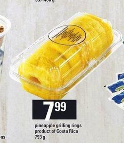 Pineapple Grilling Rings - 793 g