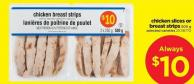 Chicken Slices Or Breast Strips - 500 G