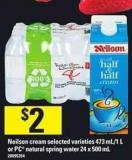Neilson Cream - 473 Ml/1 L Or PC Natural Spring Water - 24 X 500 Ml