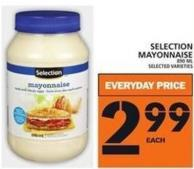 Selection Mayonnaise