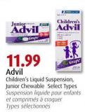 Advil Children's Liquid Suspension & Junior Chewable Select Types