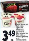 Danone Oikos 4 X 100 Gyopro 2 X 150 g or Light & Free Yogurt 4 X 95 g