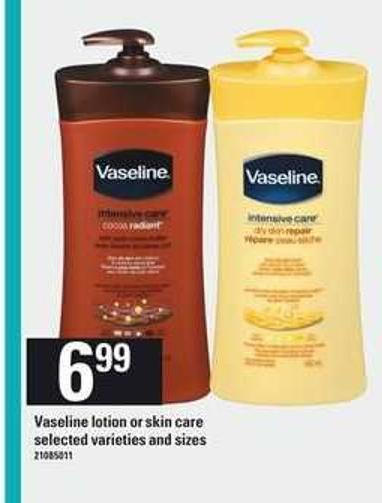 Vaseline Lotion Or Skin Care