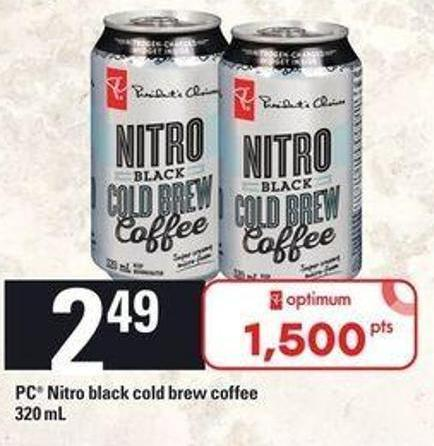 PC Nitro Black Cold Brew Coffee - 320 Ml
