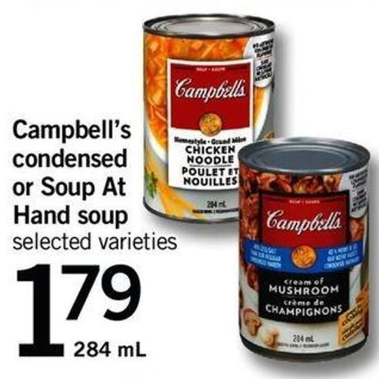 Campbell's Condensed Or Soup At Hand Soup - 284 Ml
