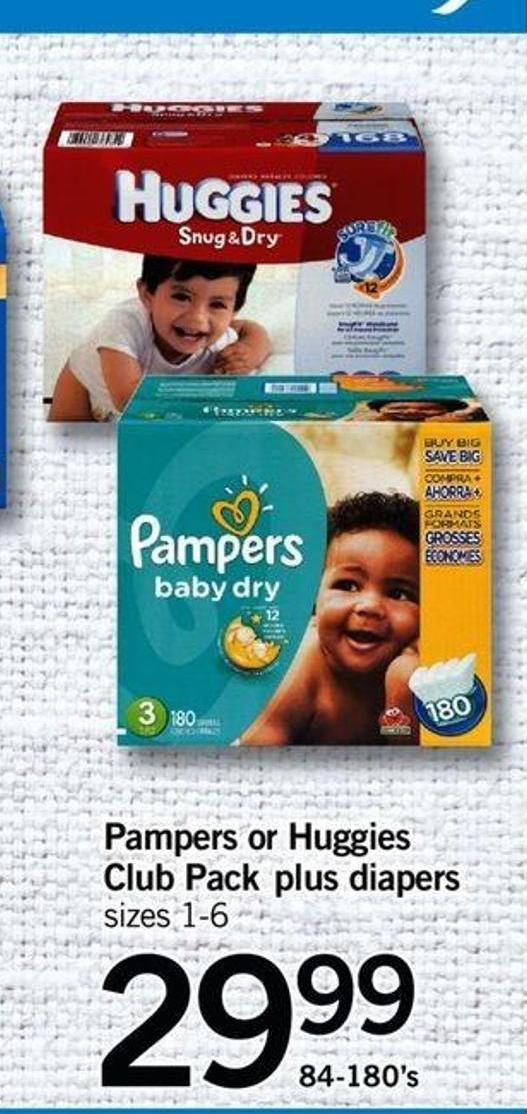Pampers Or Huggies Club Pack Plus Diapers