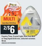 Country Time - Crystal Light - Kool-aid - Mio Or Tang Liquid Drink Mix - 48 Ml