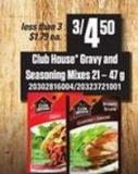 Club House Gravy And Seasoning Mixes
