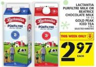 Lactantia Purfiltre Milk Or Beatrice Chocolate Milk Or Gold Peak Iced Tea