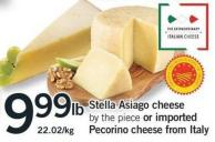 Stella Asiago Cheese Or Imported Pecorino Cheese