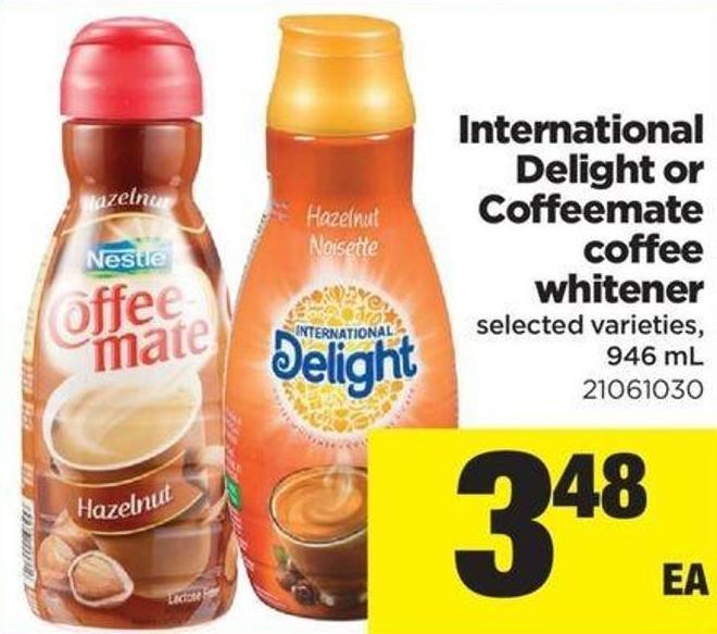 International Delight Or Coffeemate Coffee Whitener - 946 mL