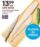 Fresh Wild Caught Cod Fillet