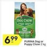 Purina Dog or Puppy Chow 2 Kg