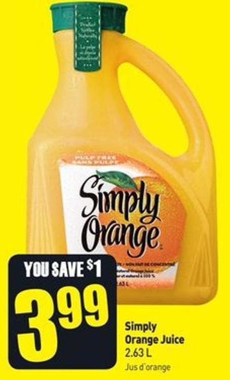 Simply Orange Juice 2.63 L