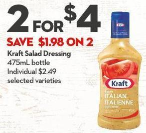 Kraft Salad Dressing 475ml Bottle