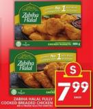 Zabiha Halal Fully Cooked Breaded Chicken
