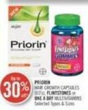 Priorin Hair Growth Capsules (60's) - Flintstones or One A Day Multivitamins