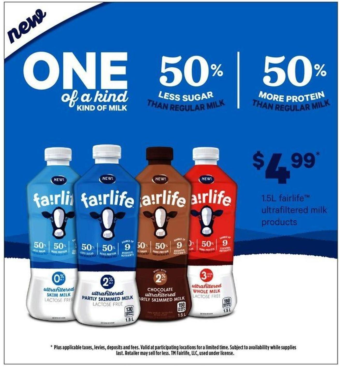 1.5l Fairlife Ultrafiltered Milk Products