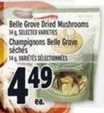 Belle Grove Dried Mushrooms 14 g