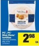 PC - PC Blue Menu Tortillas - Pkg of 10