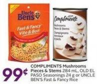 Compliments Mushrooms Pieces & Stems