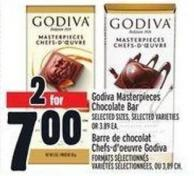 Godiva Masterpieces Chocolate Bar