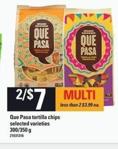 Que Pasa Tortilla Chips - 300/350 g