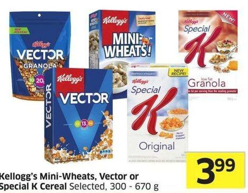 Kellogg's Mini-wheats - Vector or Special K Cereal Selected -