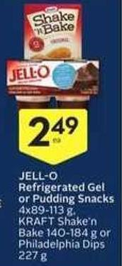 Jell-o Refrigerated Gel or Pudding Snacks
