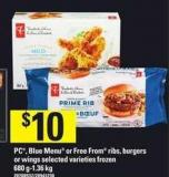 PC - Blue Menu Or Free From Ribs - Burgers Or Wings - 680 G-1.36 Kg