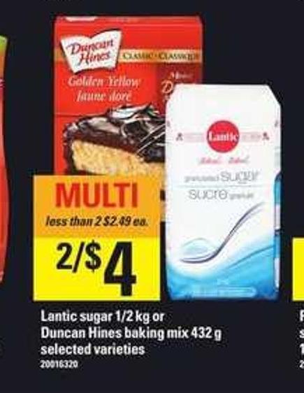 Lantic Sugar 1/2 Kg Or Duncan Hines Baking Mix 432 g