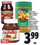 Kraft Peanut Butter - Smucker's Jam Or Nutella Spread
