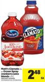 Mott's Clamato 2 L Or Ocean Spray Cranberry Juice Blends 1.77 L