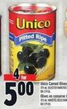 Unico Canned Olives 375 ml